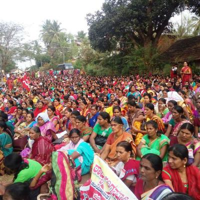 'SCHEME WORKERS' ALL INDIA STRIKE