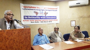 Indian Workers' Convention in Solidarity with the people of Venezuela Against the Imperialist Aggression